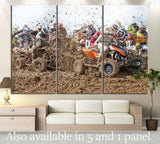 Quad Biker №150 Ready to Hang Canvas Print