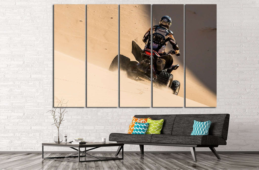 Quad Biker №152 Ready to Hang Canvas Print