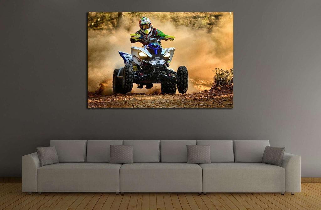 Quad Biker №153 Ready to Hang Canvas Print