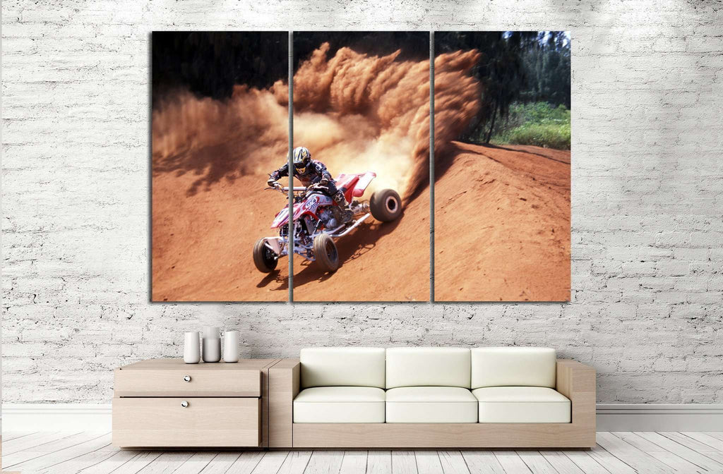 Quad Biker №154 Ready to Hang Canvas Print