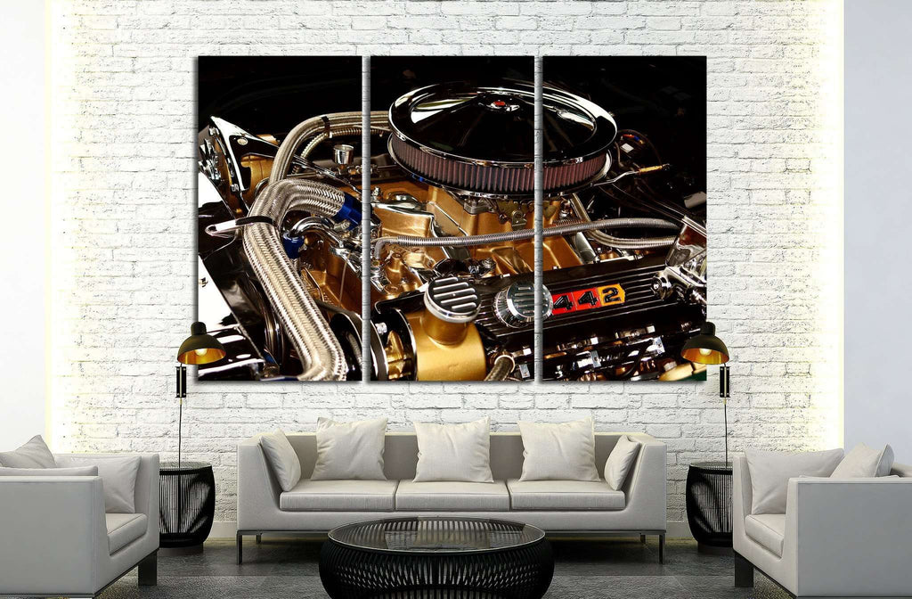 Race Car Engine №517 Ready to Hang Canvas Print
