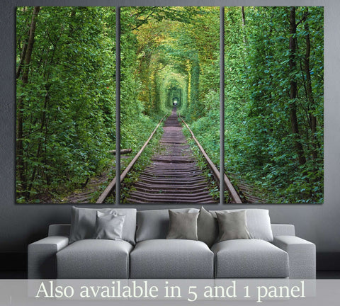 railway in Ukraine №3219 Ready to Hang Canvas Print