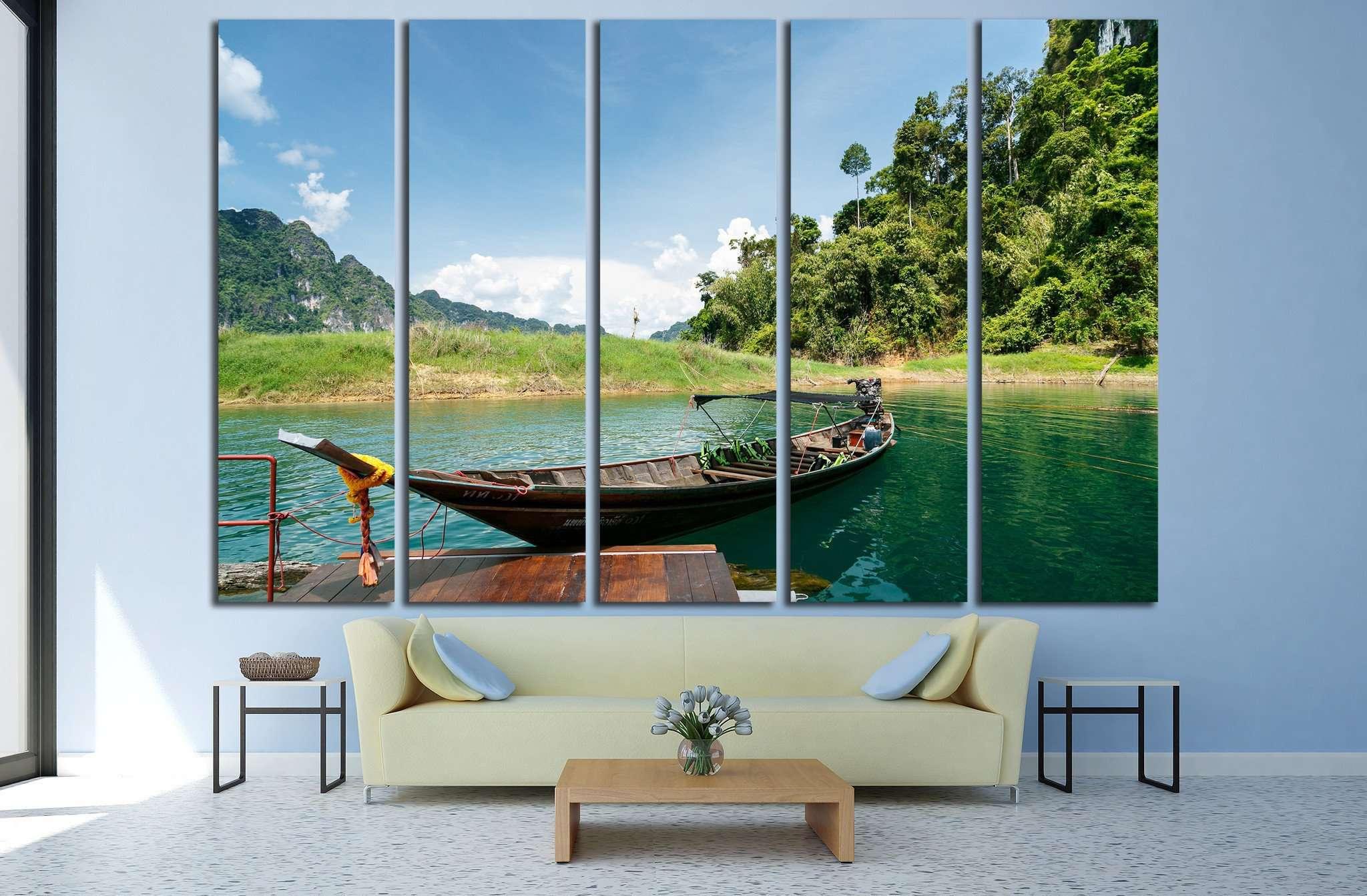 Ratchaprapa Dam, thailand №875 Ready to Hang Canvas Print