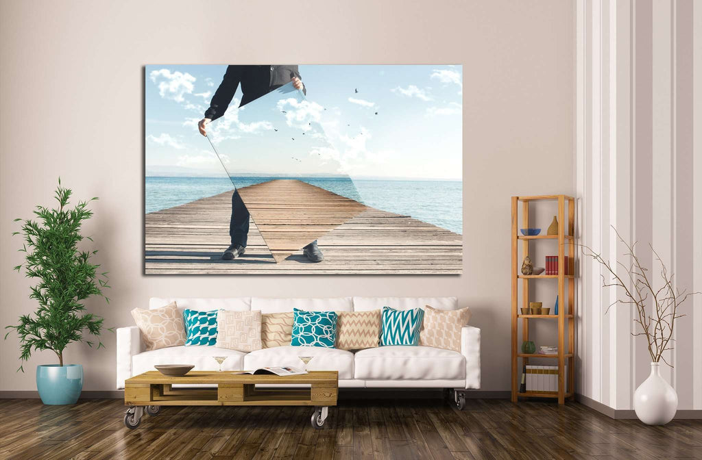 realistic painter №1085 Ready to Hang Canvas Print