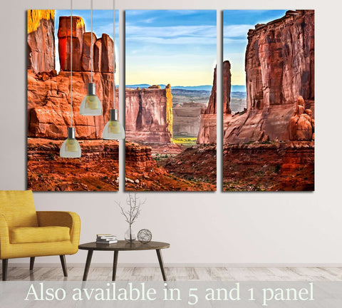 Red rock canyon mountain landscape. Grand Canyon landscape №2902 Ready to Hang Canvas Print