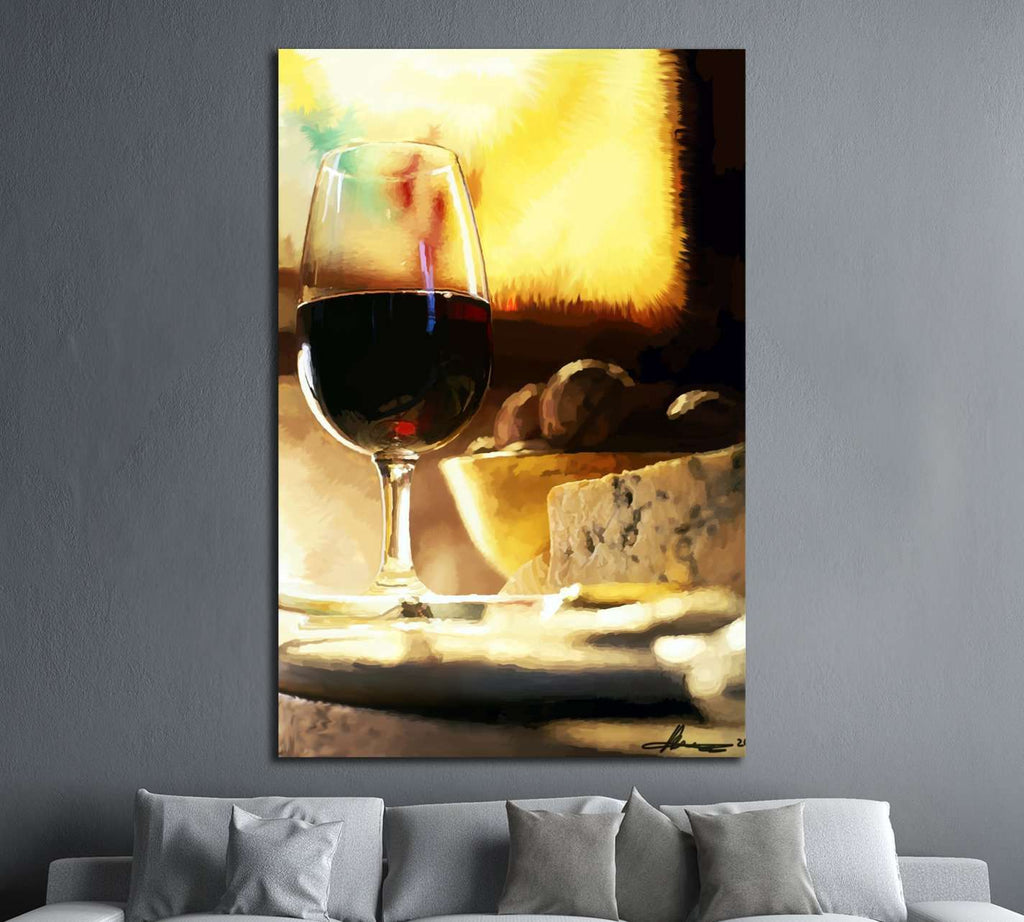 Red Wine Oil Painting №3476 Ready to Hang Canvas Print Canvas Print ...