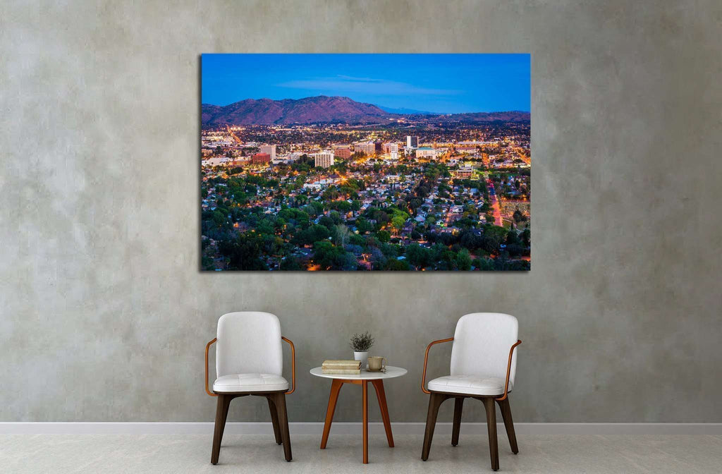 Riverside, Mount Rubidoux Park, in Riverside, California №1697 Ready to Hang Canvas Print