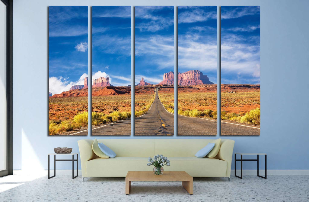 Road to the Monument Valley №1980 Ready to Hang Canvas Print