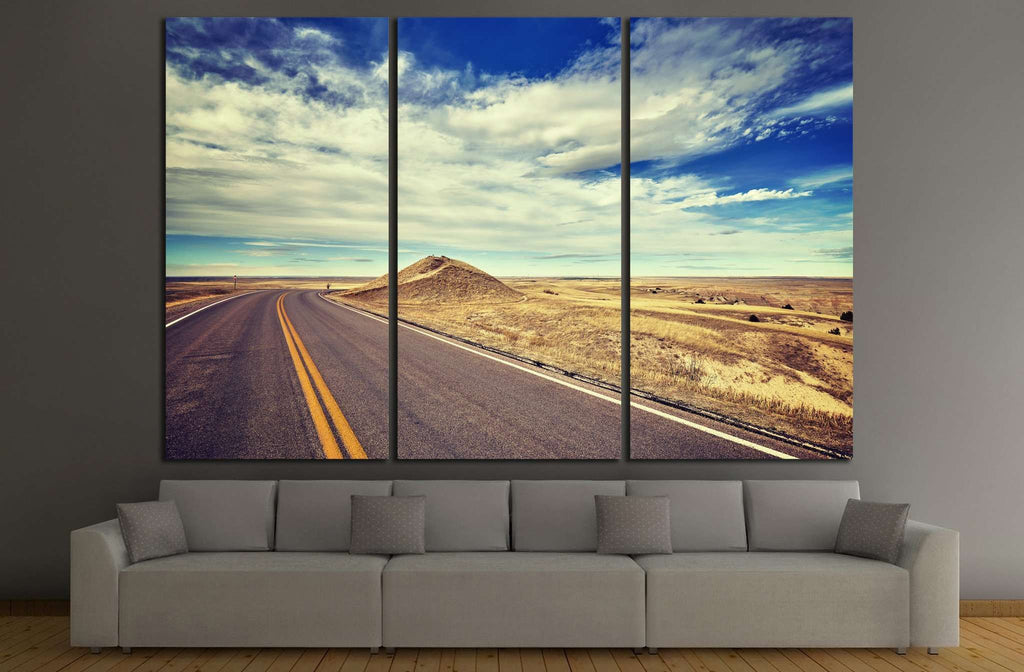 road, USA №868 Ready to Hang Canvas Print