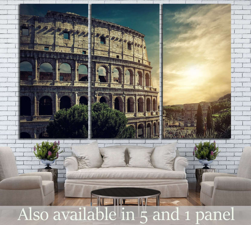 Roman Coliseum №740 Ready to Hang Canvas Print