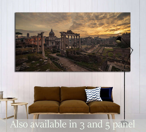 Rome, Italy The Roman Forum. Old Town of the city №3042 Ready to Hang Canvas Print