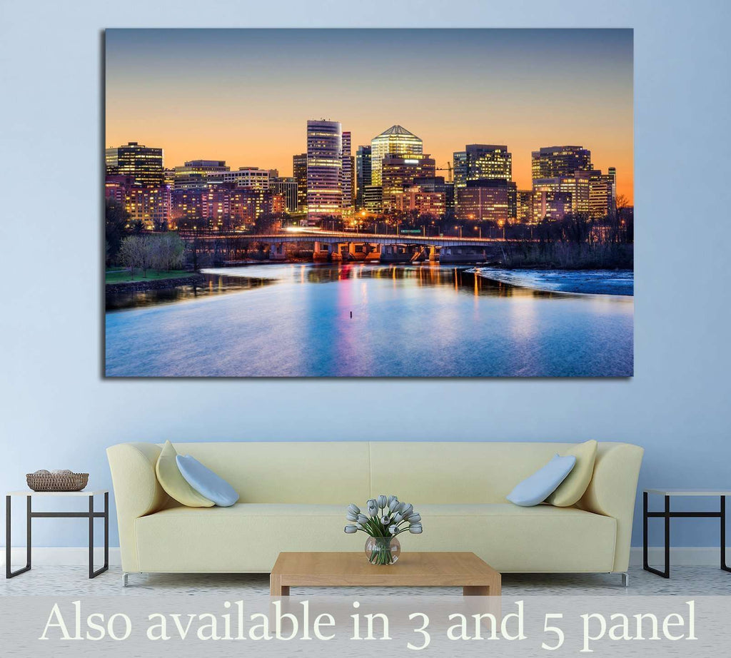 Rosslyn, Arlington, Virginia, USA skyline on the Potomac River №1363 Ready to Hang Canvas Print