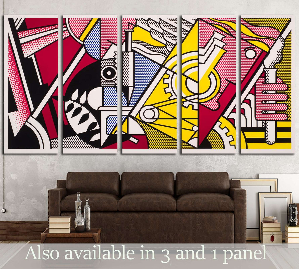 roy lichtenstein peace through chemistry №3291 Ready to Hang Canvas Print