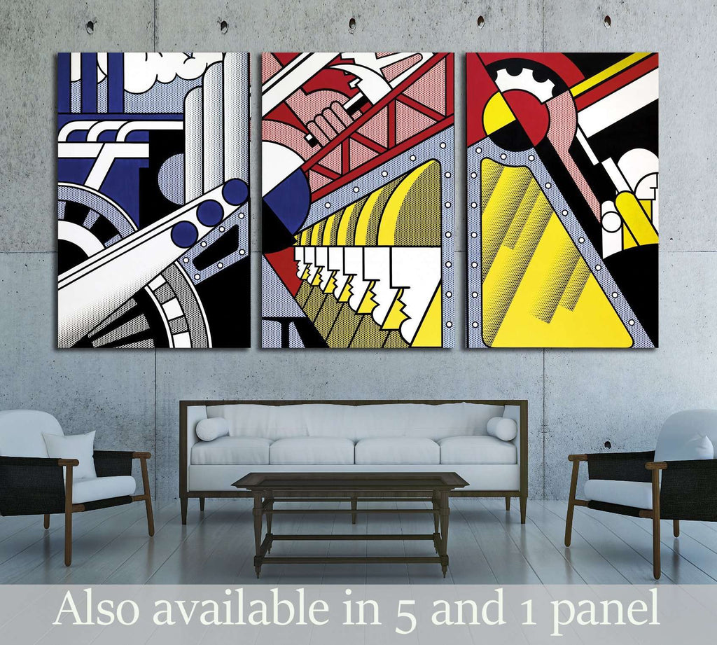 roy lichtenstein study for preparedness №3289 Ready to Hang Canvas Print