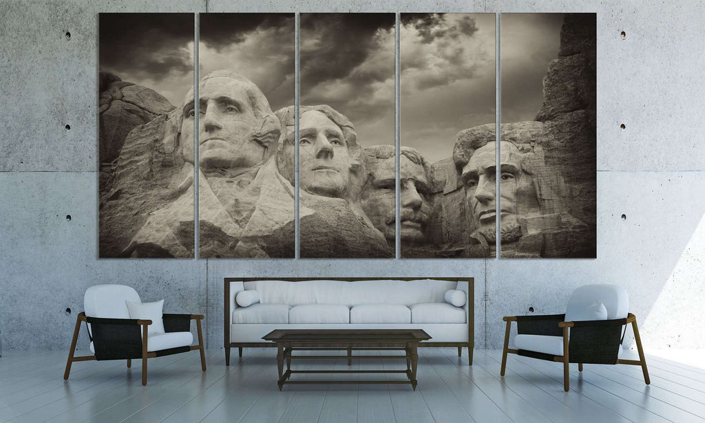 Rushmore Monument №3010 Ready to Hang Canvas Print