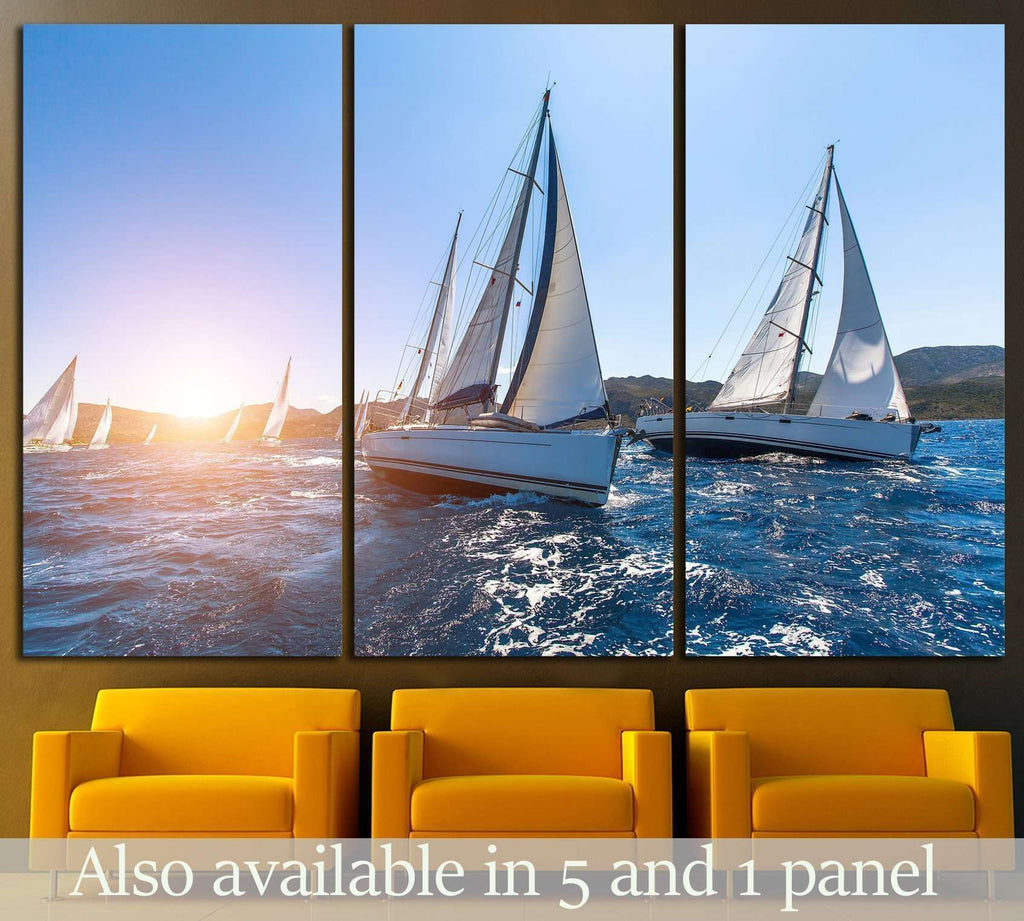 Sailboat №212 Ready to Hang Canvas Print