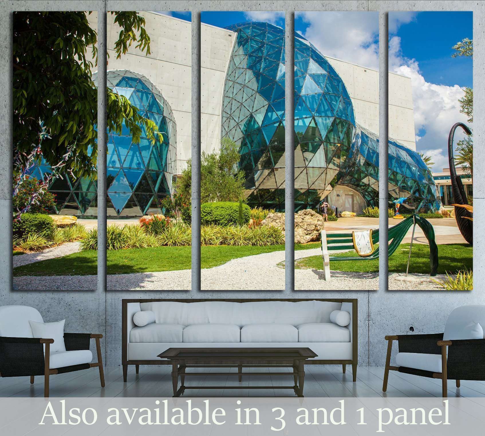 Salvador Dali Museum in St. Petersburg, FLORIDA, USA №1778 Ready to Hang Canvas Print