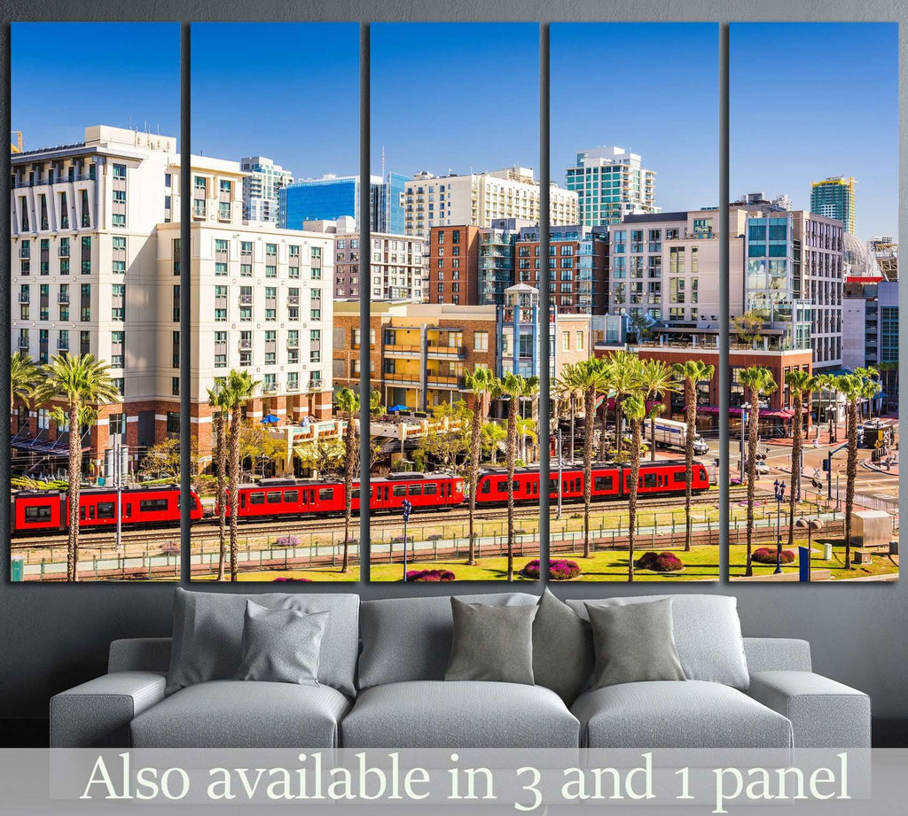 San Diego, California №1014 Ready to Hang Canvas Print