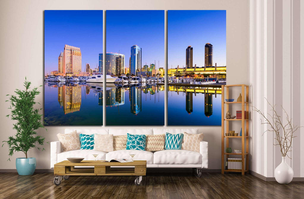 San Diego, California, USA, Embarcadero Marina №1217 Ready to Hang Canvas Print
