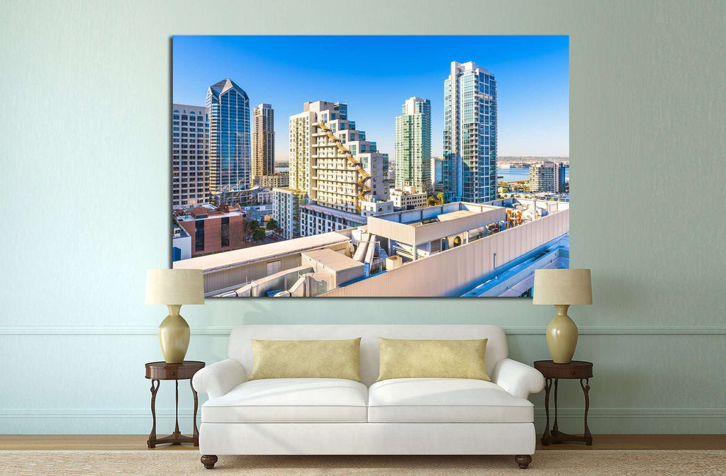 San Diego Cityscape №806 Ready to Hang Canvas Print
