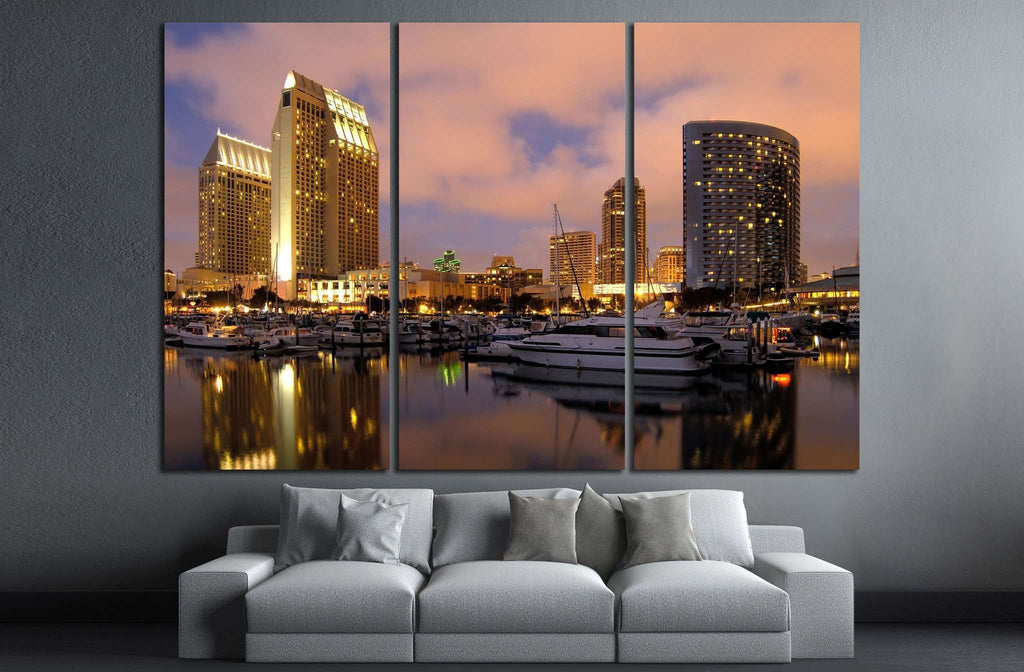 San Diego downtown marina №1024 Ready to Hang Canvas Print
