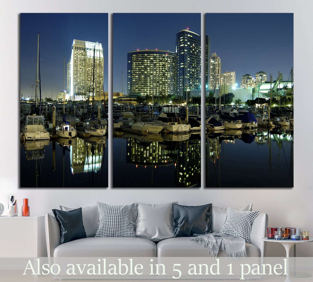 San Diego downtown marina №753 Ready to Hang Canvas Print