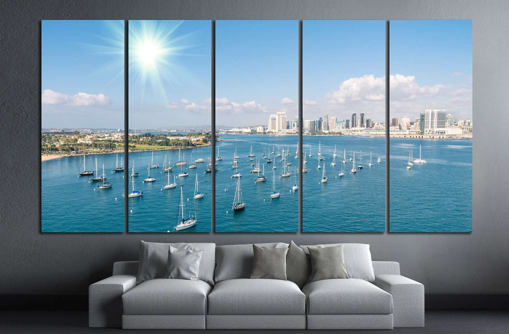 San Diego skyline №1013 Ready to Hang Canvas Print