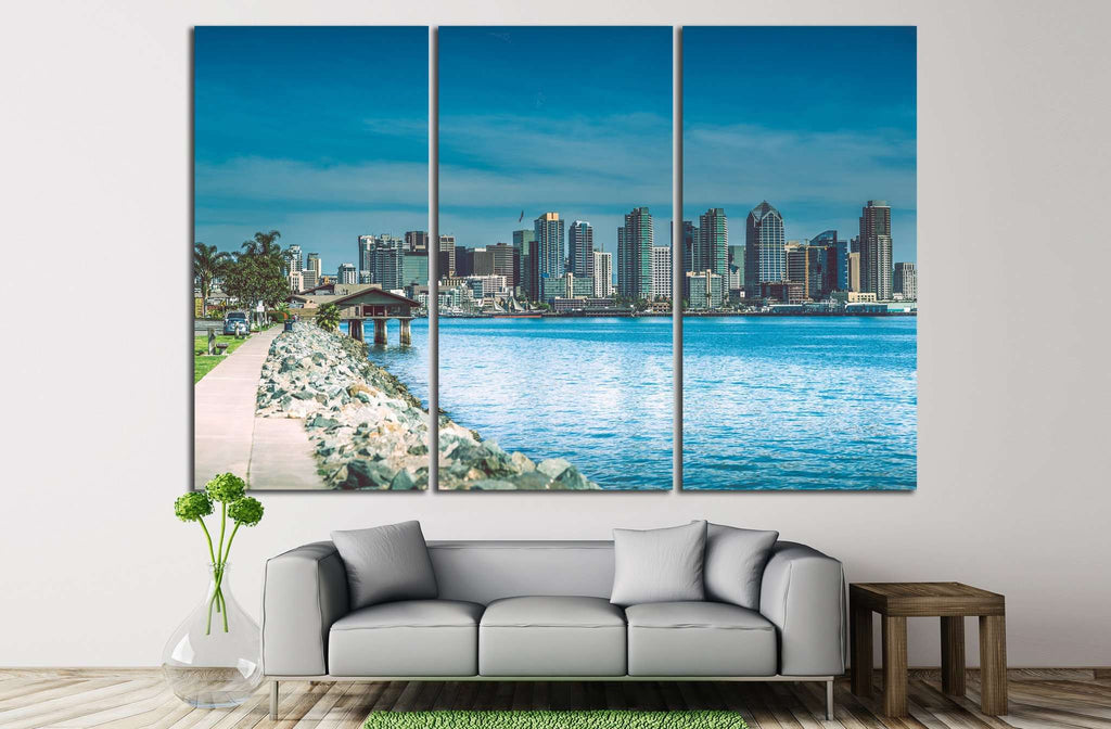 San Diego Skyline №1020 Ready to Hang Canvas Print