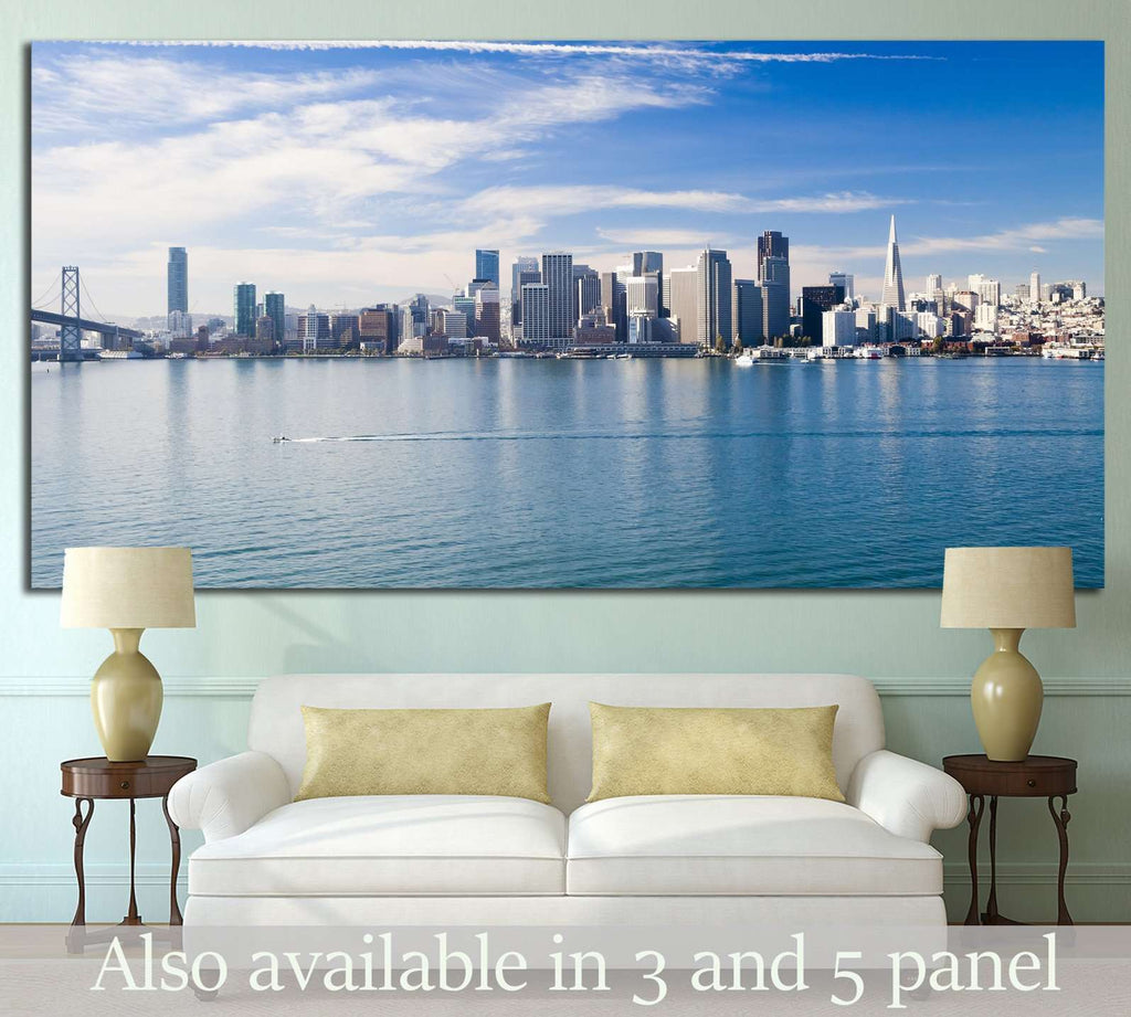 San Francisco City Downtown, California №1209 Ready to Hang Canvas Print