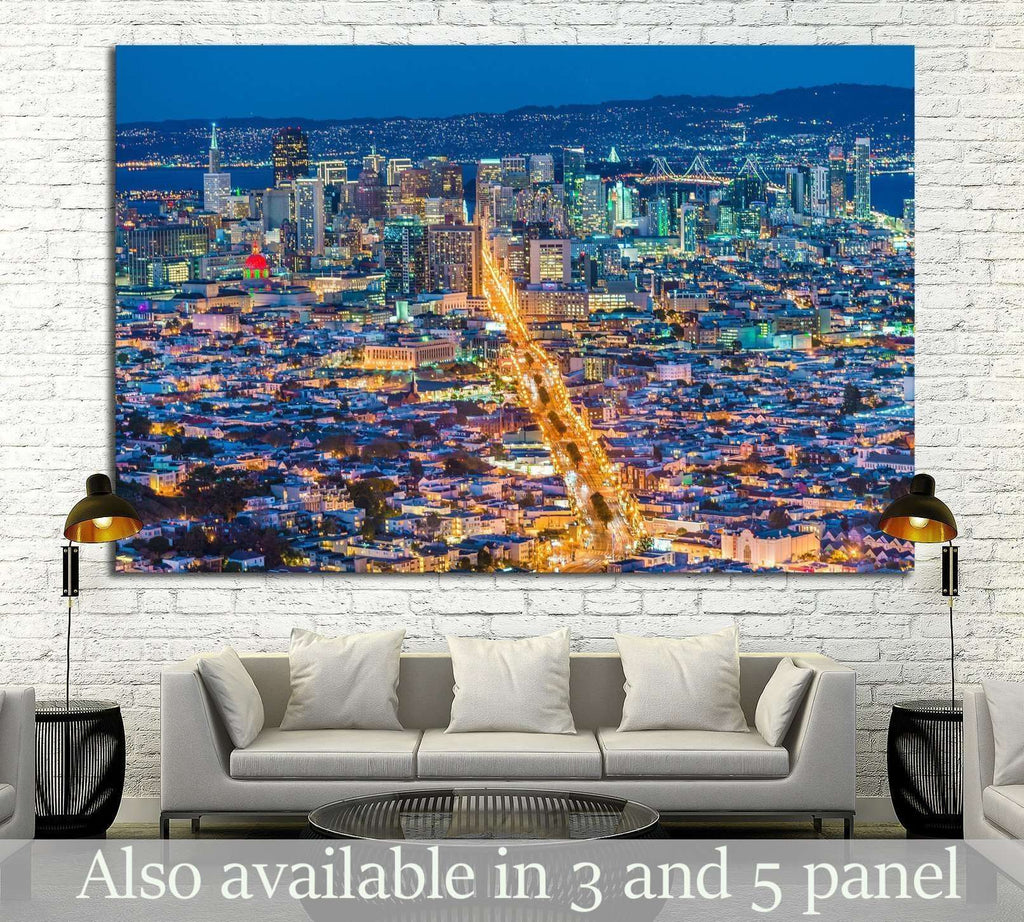 San Francisco City from Twin Peak №1712 Ready to Hang Canvas Print