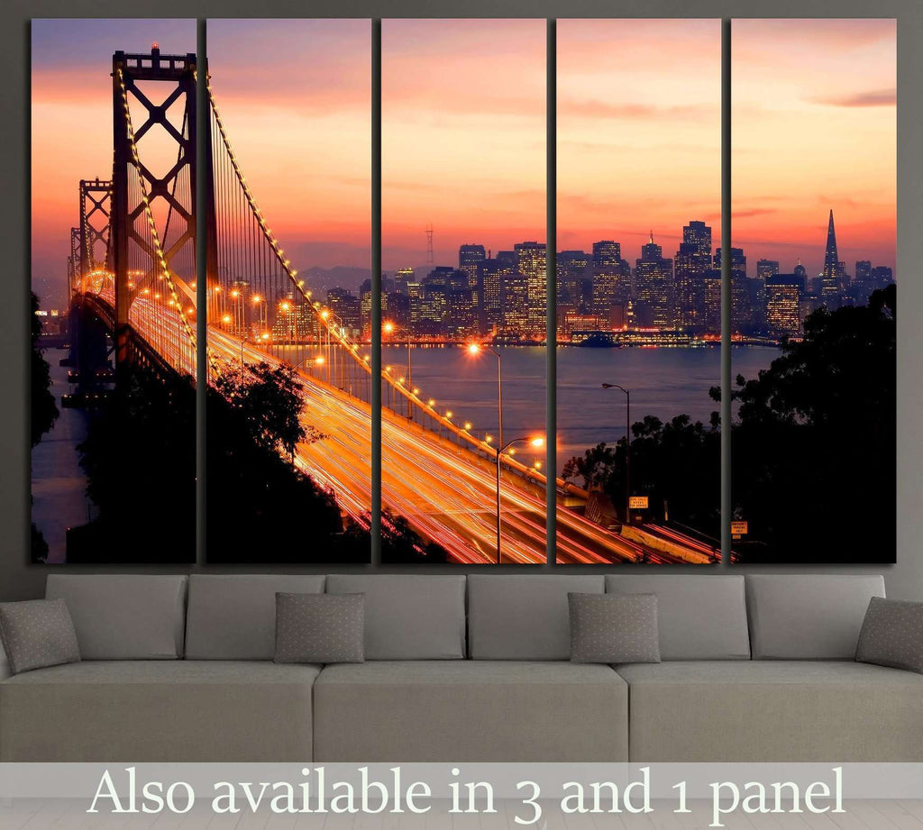 San Francisco Sunset №1034 Ready to Hang Canvas Print