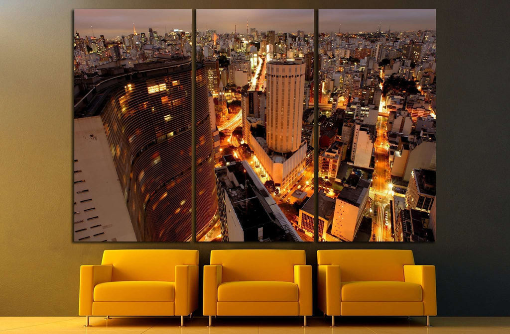 Sao Paulo skyline, Brazil, largest city in South America №1517 Ready to Hang Canvas Print