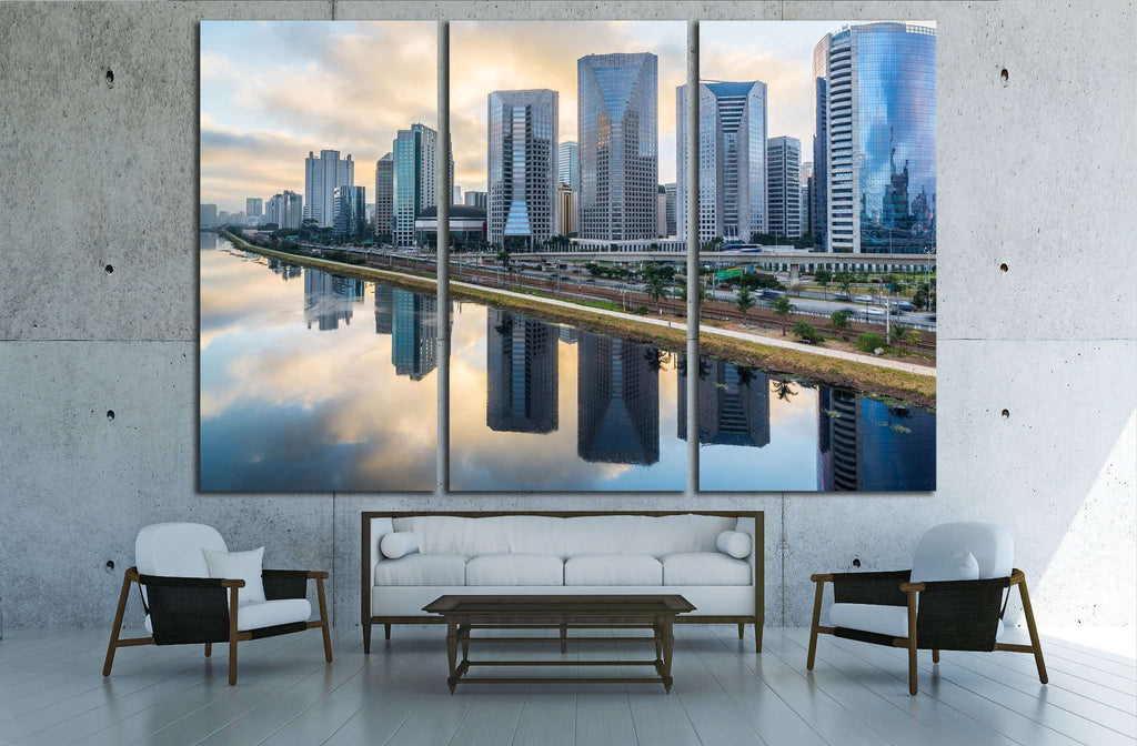 Sao Paulo Skyline - Brazil №1528 Ready to Hang Canvas Print