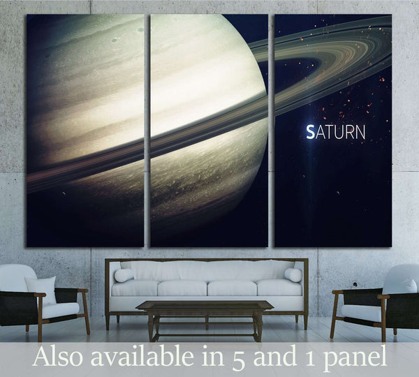 Saturn - High resolution beautiful art presents planet of the solar system №2421 Ready to Hang Canvas Print