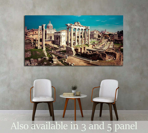 Saturn Temple in Rome, Italy №2905 Ready to Hang Canvas Print
