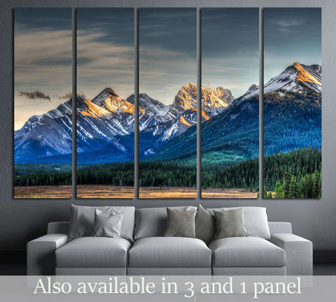 Scenic Mountain Views Kananaskis Country Alberta Canada №2701 Ready to Hang Canvas Print