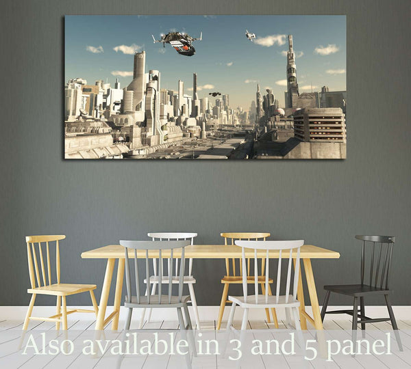 Science fiction illustration №2179 Ready to Hang Canvas Print