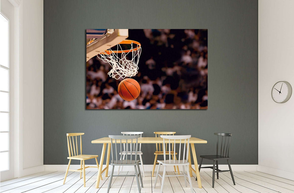Scoring the winning points at a basketball game №2125 Ready to Hang Canvas Print