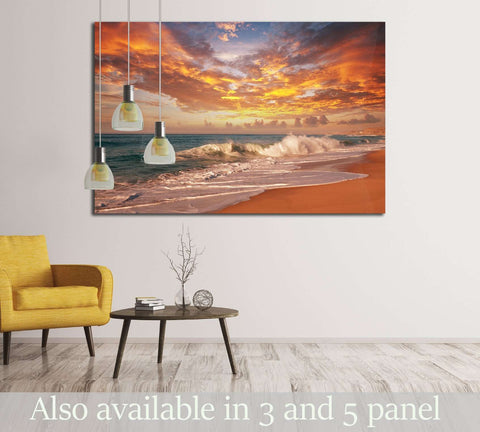 sea sunset №2685 Ready to Hang Canvas Print