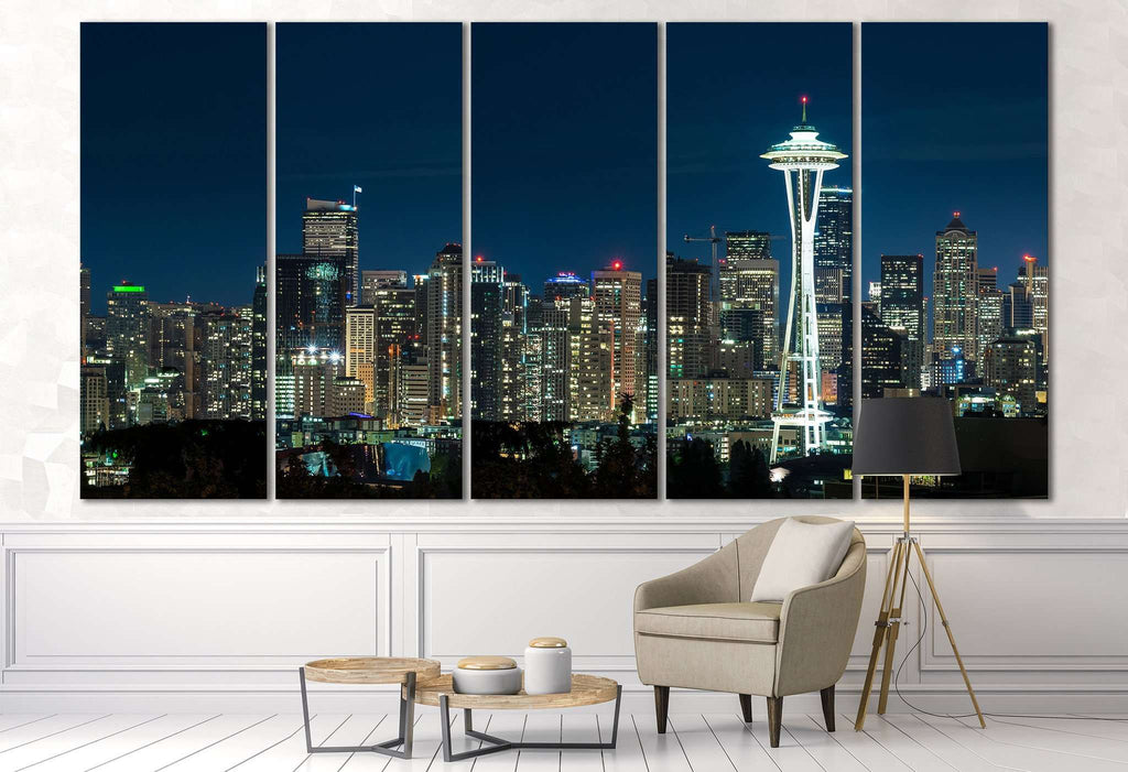 Seattle Cityscape №3020 Ready to Hang Canvas Print