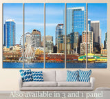 Seattle skyline №1125 Ready to Hang Canvas Print