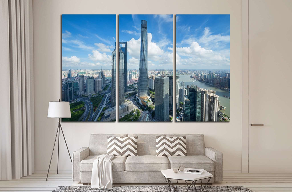 SHANGHAI, Jin Mao Tower, Shanghai tower №1549 Ready to Hang Canvas Print