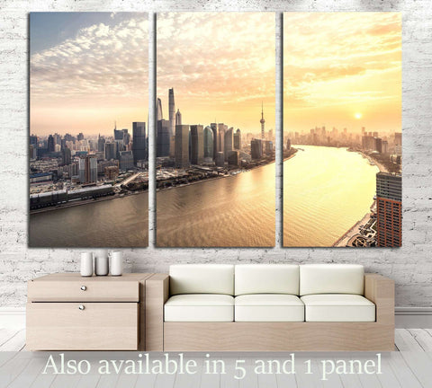 Shanghai skyline and cityscape №2968 Ready to Hang Canvas Print