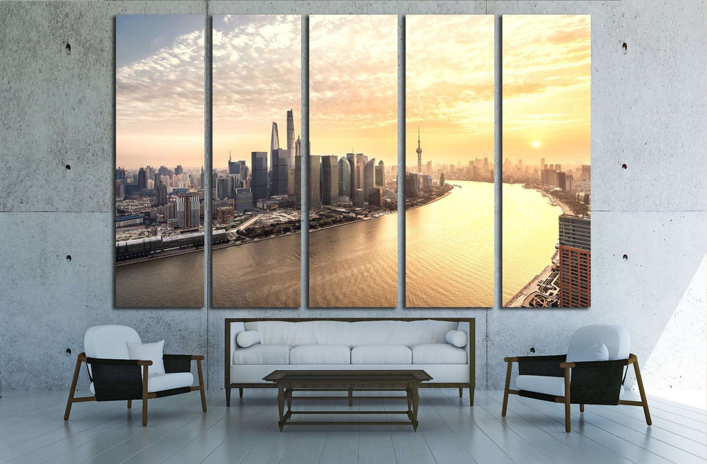 Shanghai skyline and cityscape №2968 Ready to Hang Canvas Print ...