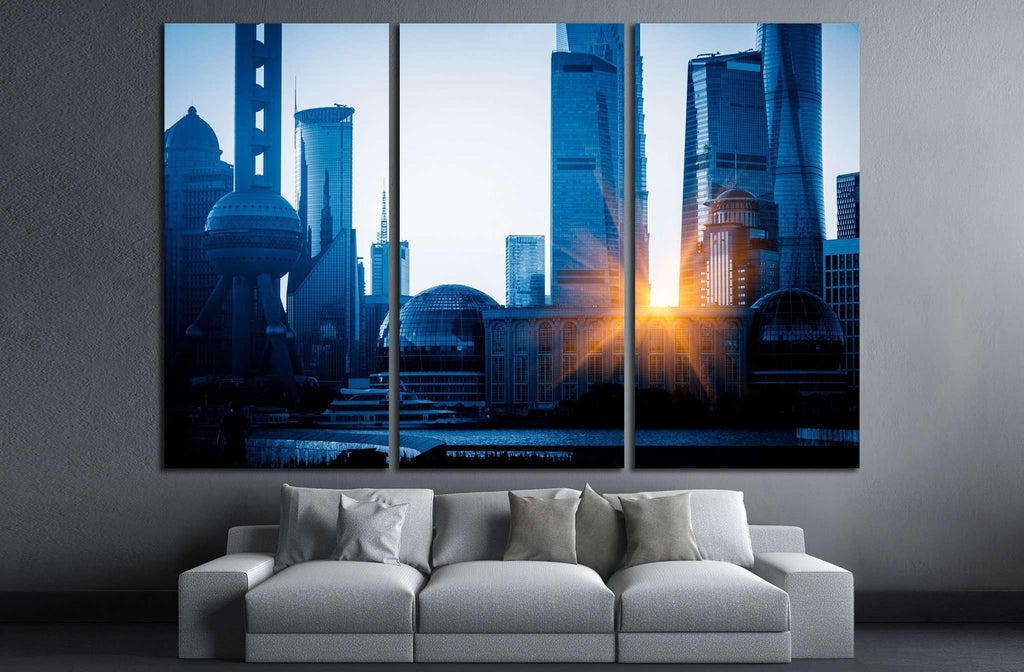 Shanghai skyline in China №1272 Ready to Hang Canvas Print