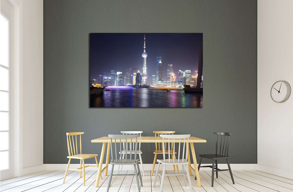 Shanghai skyline with the Pearl Tower, China №2221 Ready to Hang Canvas Print