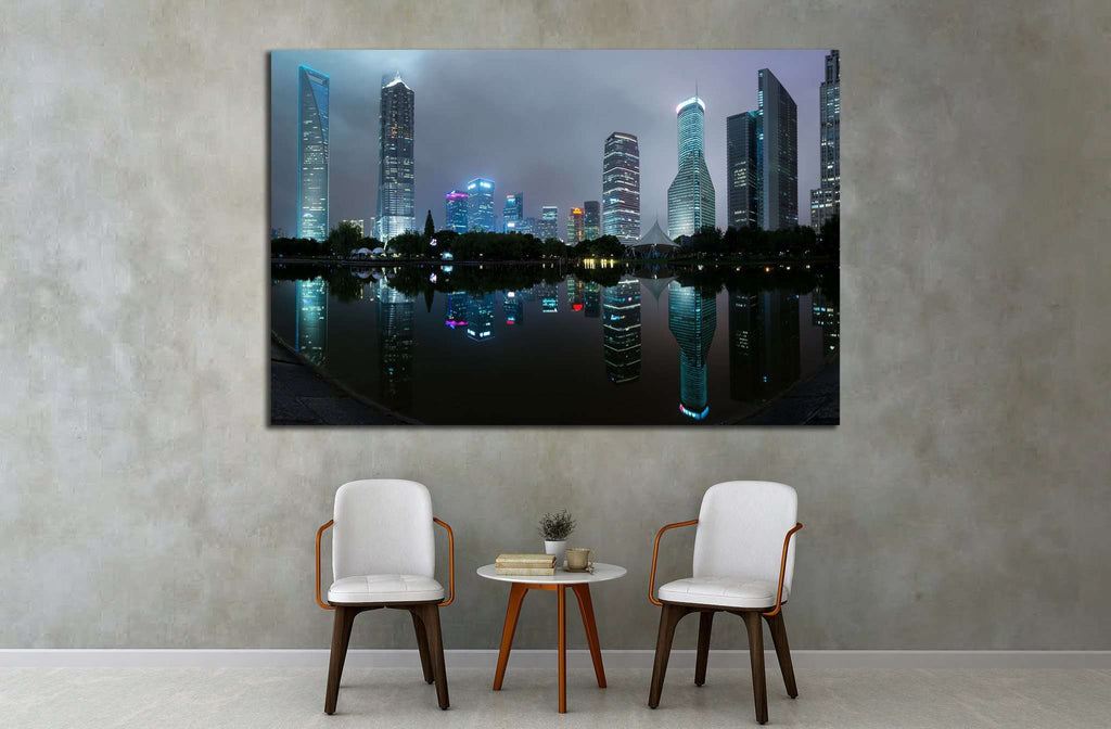 Shanghai skyscraper buildings, China №1570 Ready to Hang Canvas Print