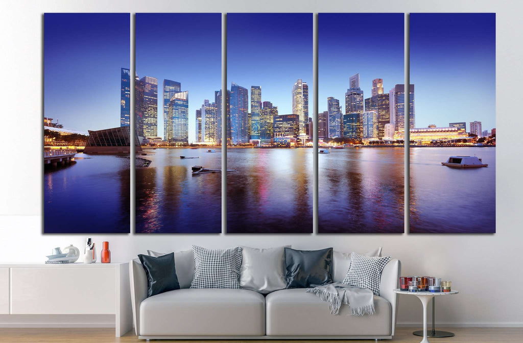 Singapore Cityscape №1147 Ready to Hang Canvas Print