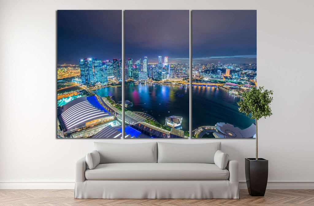 Singapore skyline downtown №1028 Ready to Hang Canvas Print
