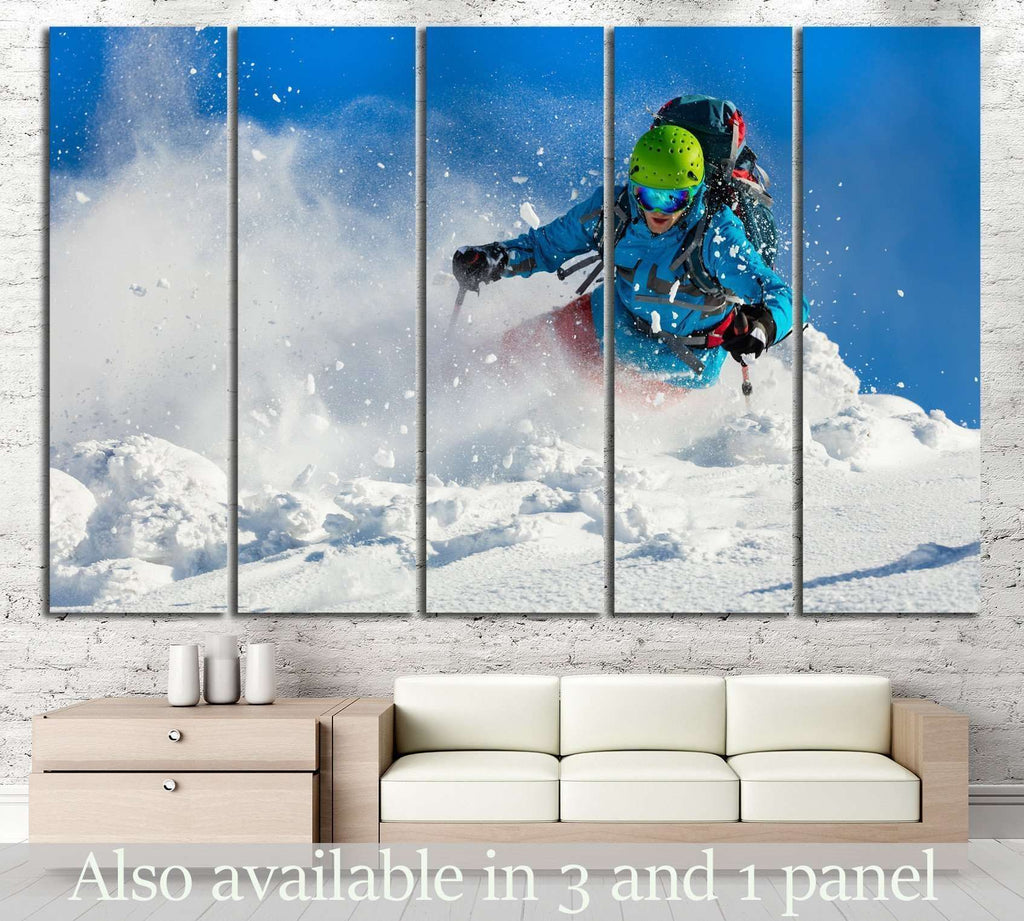 Skier №181 Ready to Hang Canvas Print
